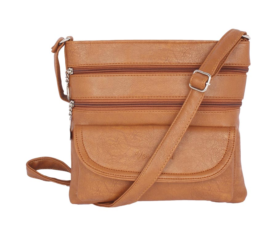Aliado | Aliado Faux Leather Mustard Coloured Zipper Closure Handbag
