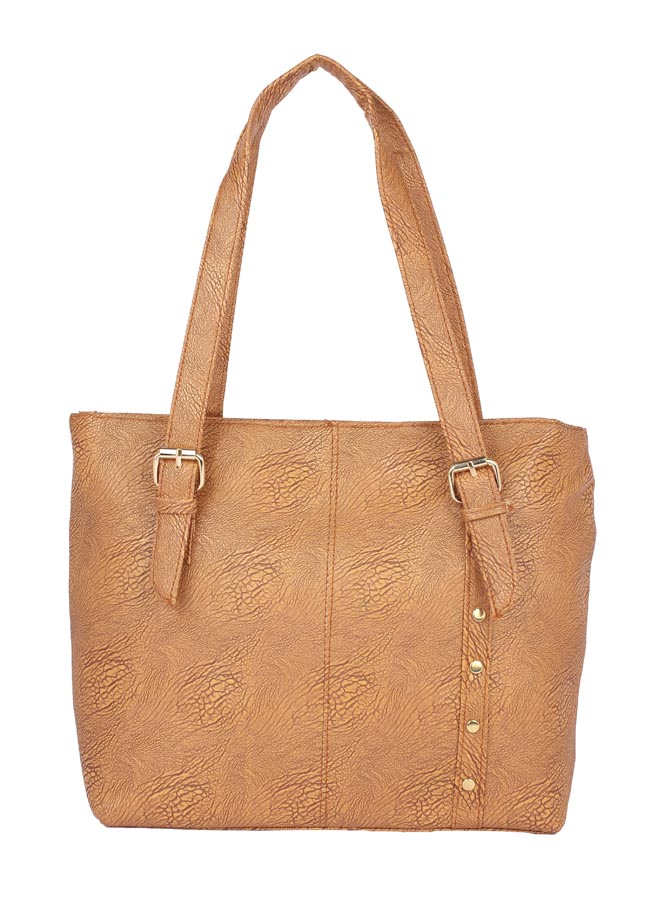 Aliado | Aliado Faux Leather Brown Coloured Zipper Closure Handbag