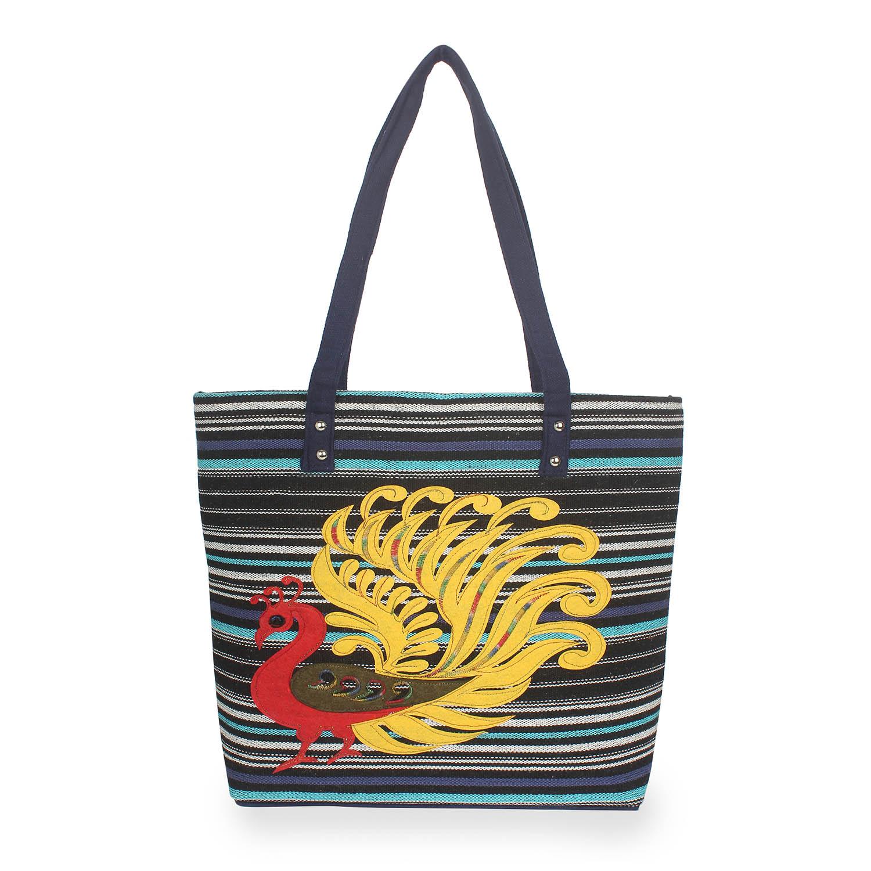 Aliado | Aliado Polyester Multicolor Zipper Closure Handcrafted Casual Handbag