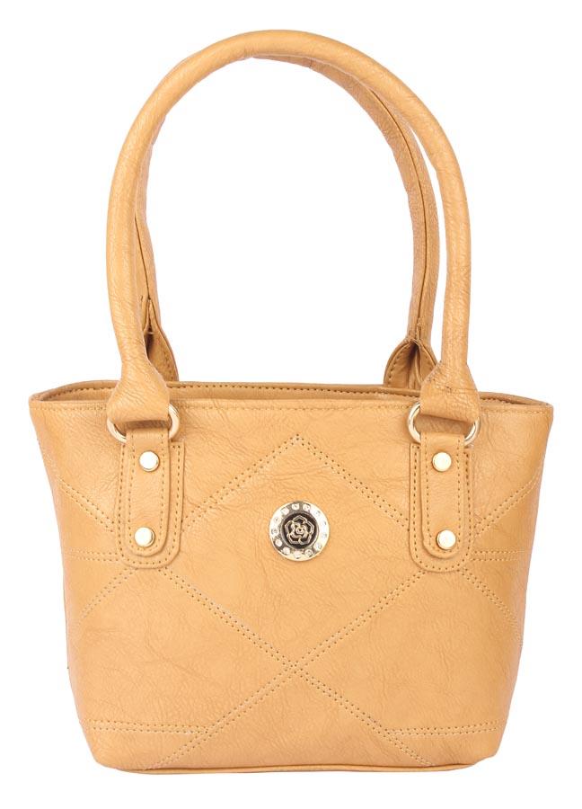 Aliado   Aliado Faux Leather Mustard Coloured Zipper Closure Tote Bag