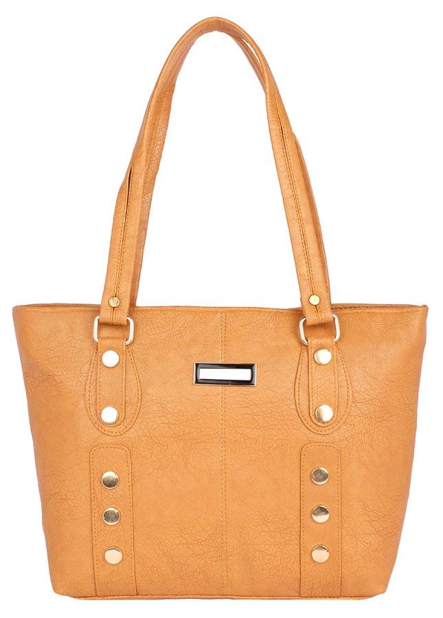 Aliado   Aliado Faux Leather Mustard Coloured Zipper Closure       Handbag