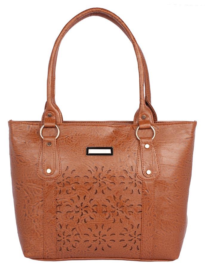 Aliado | Aliado Faux              Leather Coffee Brown Coloured Zipper Closure Handbag