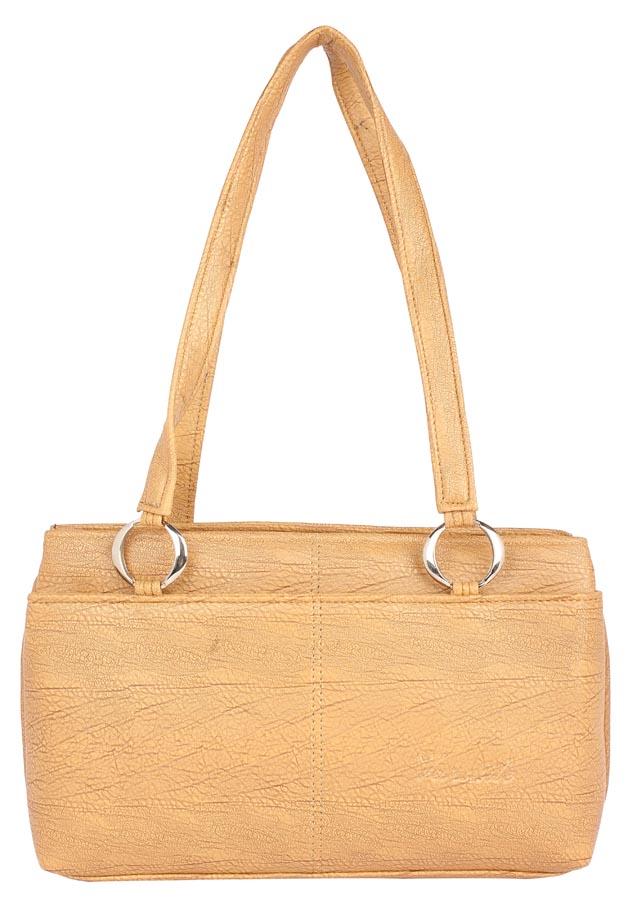 Aliado | Aliado Faux Leather Beige Coloured         Zipper Closure Handbag