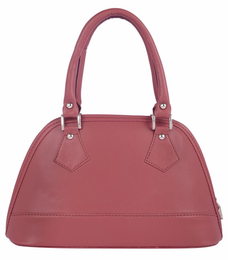 Aliado   Aliado Faux Leather Magenta Coloured Zipper Closure Handbag