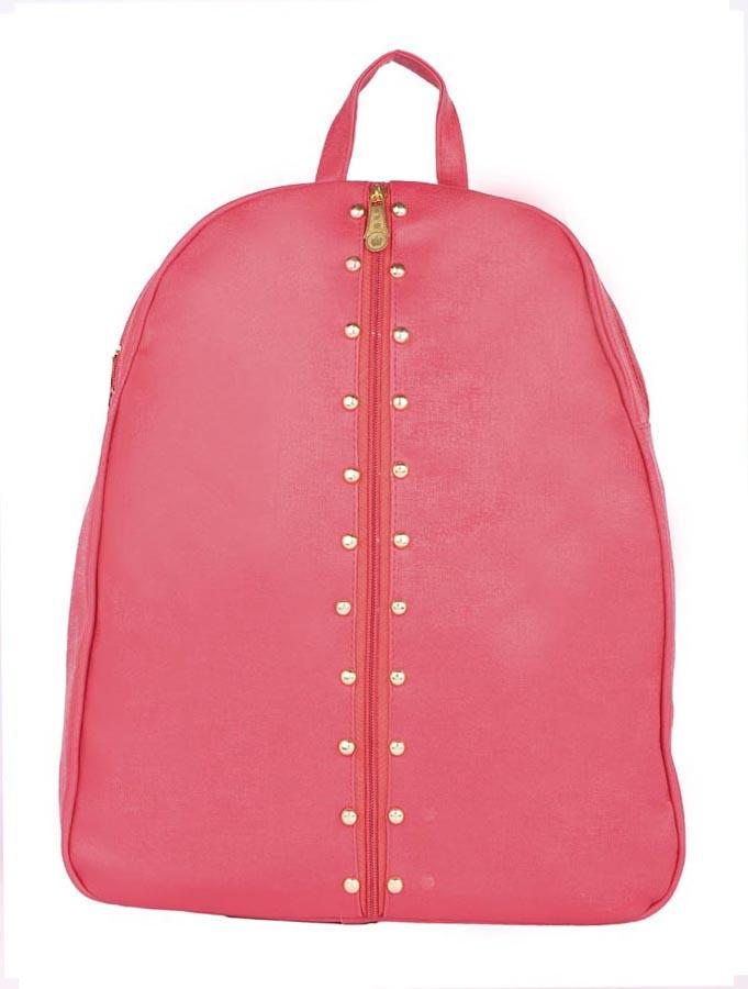 Aliado | Aliado Faux Leather Pink Coloured Backback