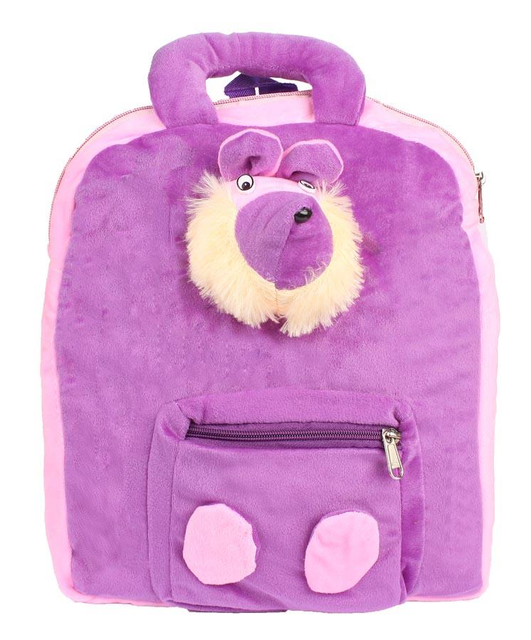 Aliado | Aliado Faux Fur Purple   Coloured Zipper Closure Backpack