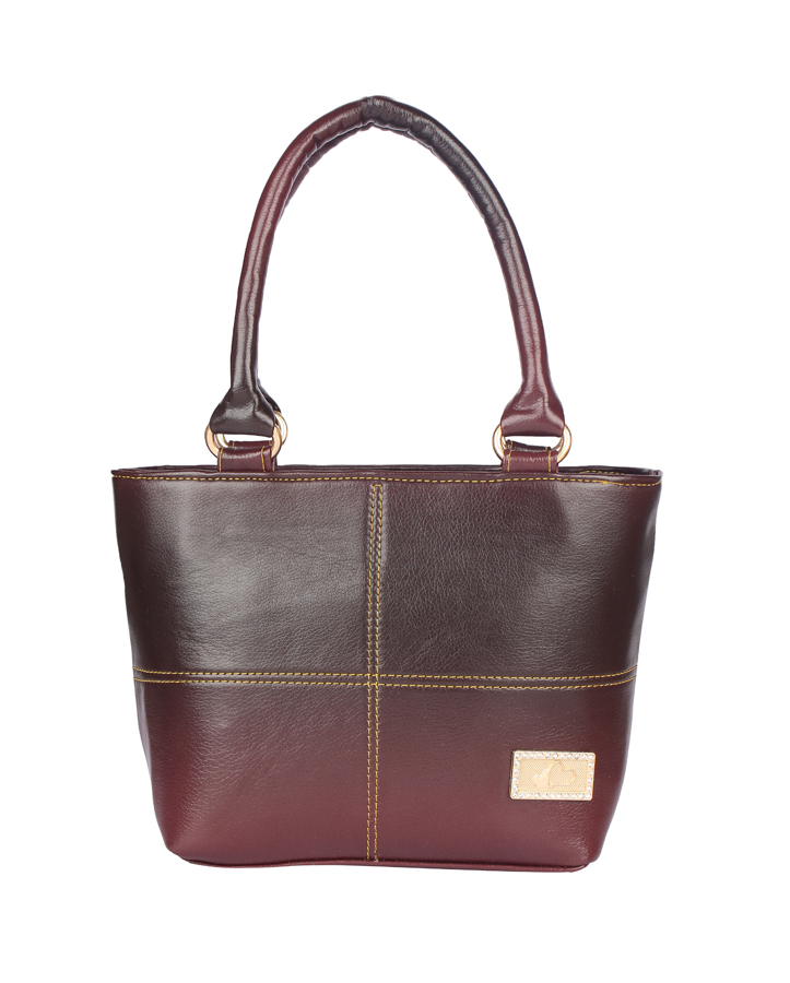 Aliado | Aliado Faux Leather  Magenta Zipper Closure Formal Handbag