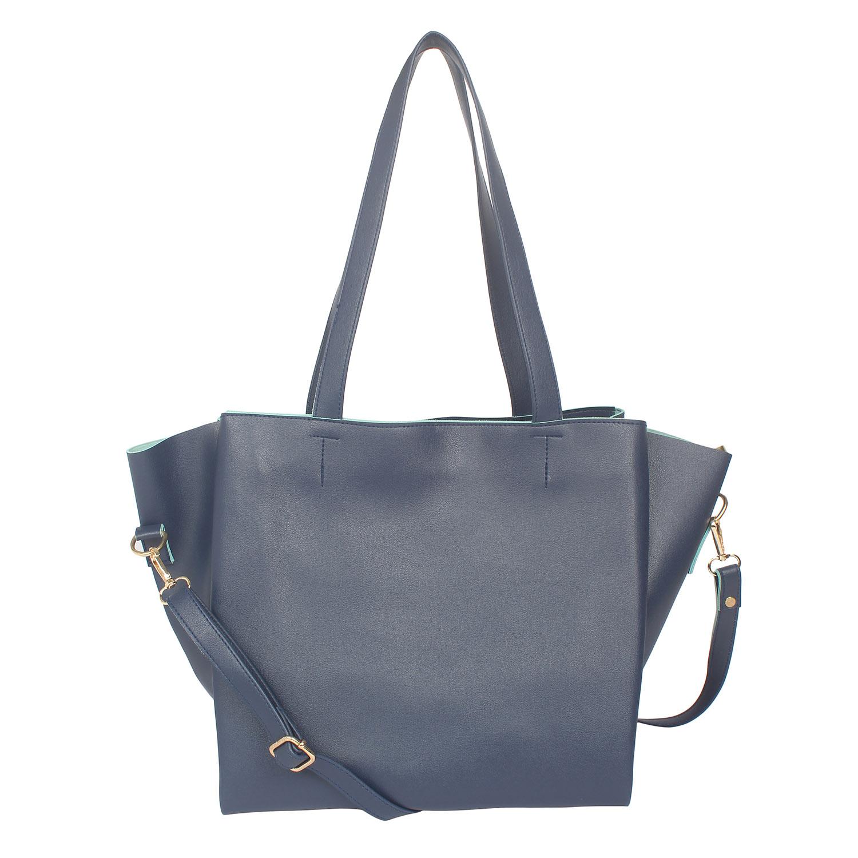 Aliado | Aliado Blue Artificial Leather Zipper Closure Handbag