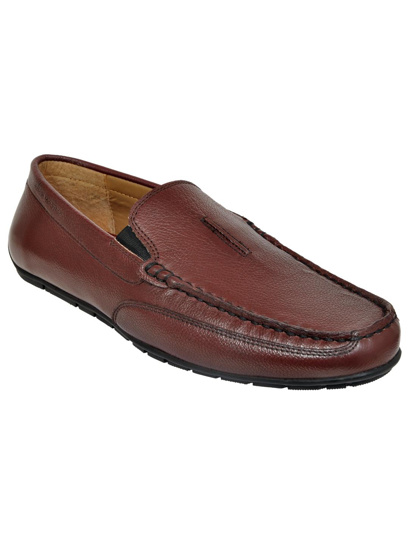 Allen Cooper   Allen Cooper Maroon Loafers For Men