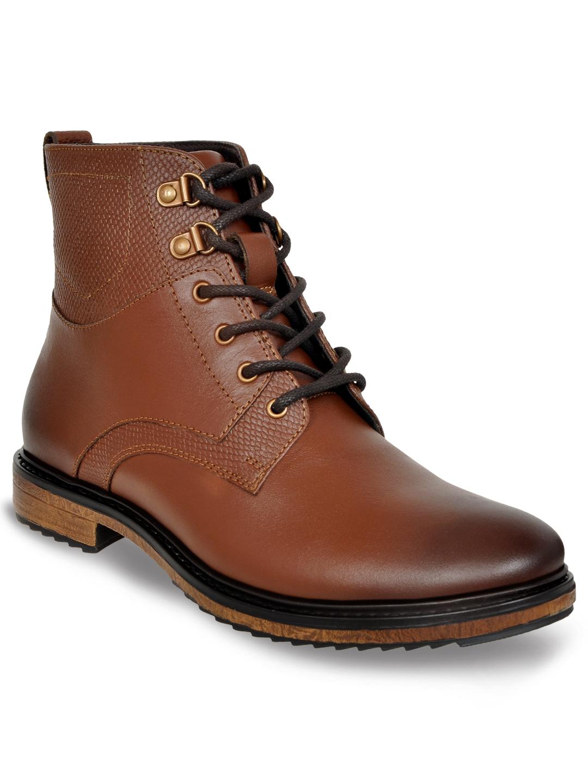 Allen Cooper | Allen Cooper Brown Flat Boots For Men