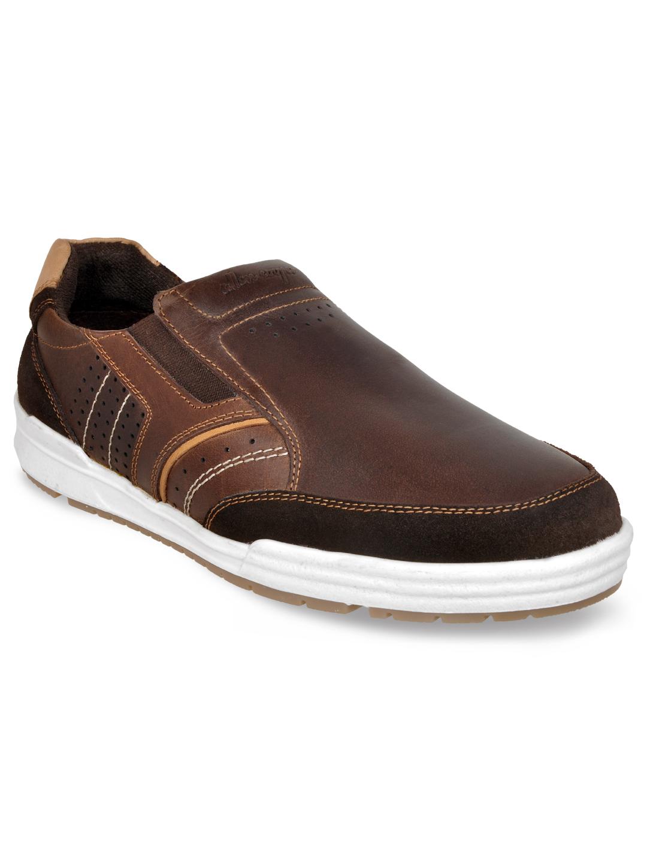 Allen Cooper | Allen Cooper Brown Casual Sneakers For Men(20215)