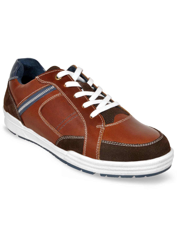 Allen Cooper   Allen Cooper Brown Casual Sneakers For Men(20216)