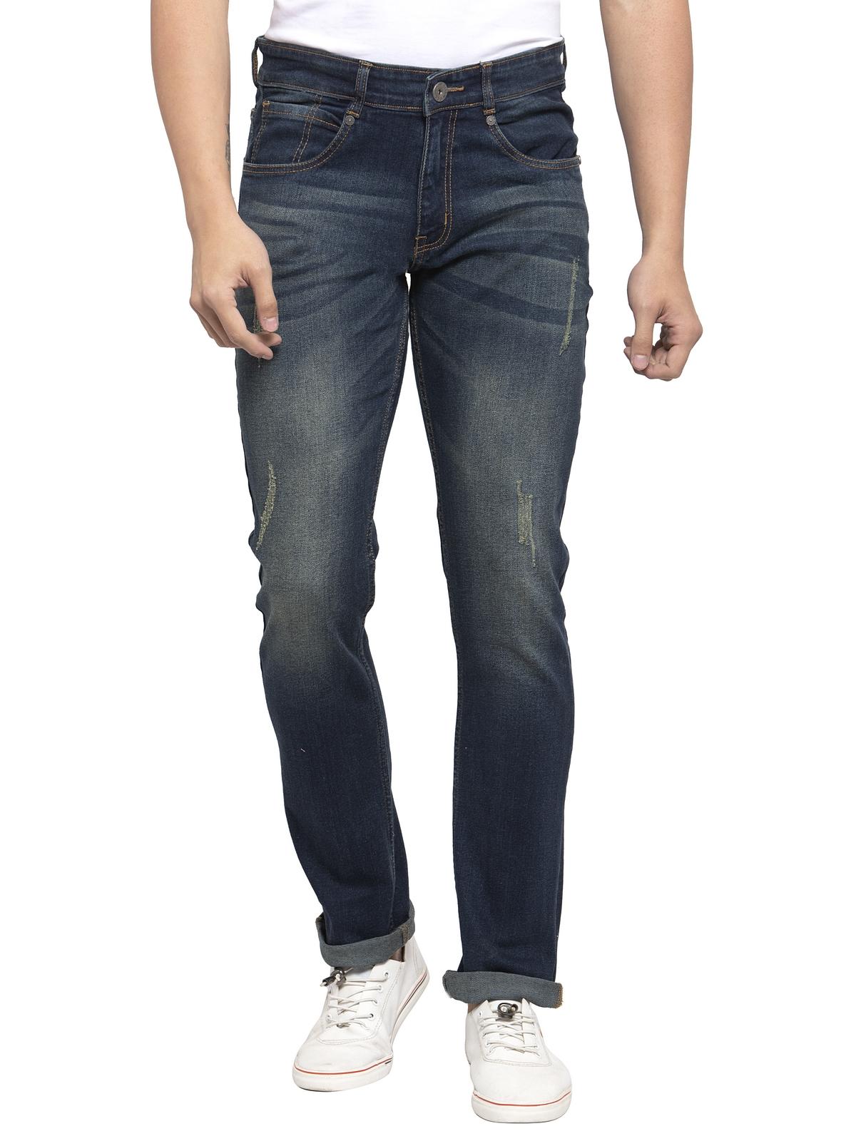 Allen Cooper | Allen Cooper Blue Denim Slim Fit Jeans for Men