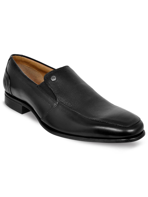Allen Cooper   Allen Cooper Black Formal Slip-ons For Men