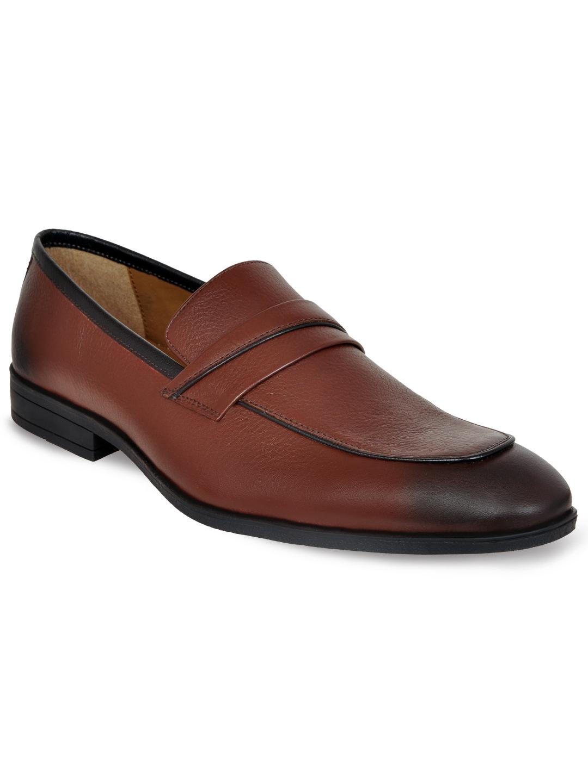 Allen Cooper | Allen Cooper Brown Formal Loafers Shoes For Men