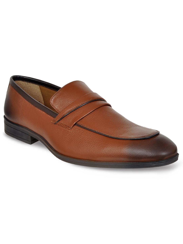 Allen Cooper | Allen Cooper Tan Formal Loafers Shoes For Men