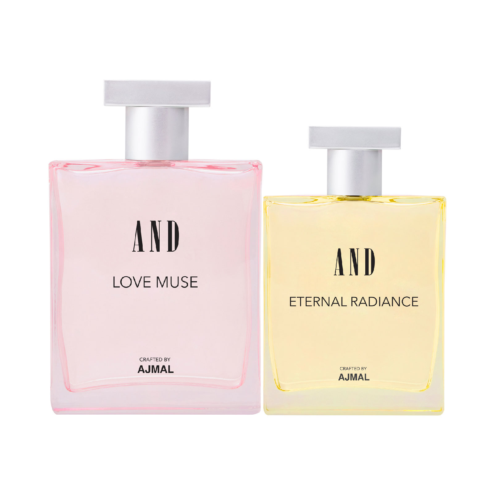 AND Crafted By Ajmal | AND Eternal Radiance 100ML & Love Muse 50ML Pack of 2 Eau De Parfum for Women Crafted by Ajmal + 2 Parfum Testers