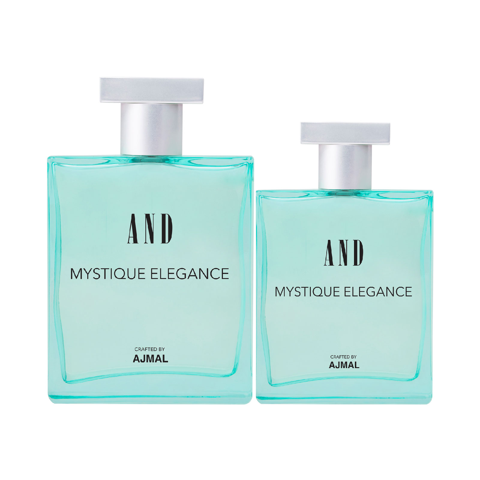 AND Crafted By Ajmal | AND Mystique Elegance 100ML & 50ML Pack of 2 Eau De Parfum for Women Crafted by Ajmal + 2 Parfum Testers