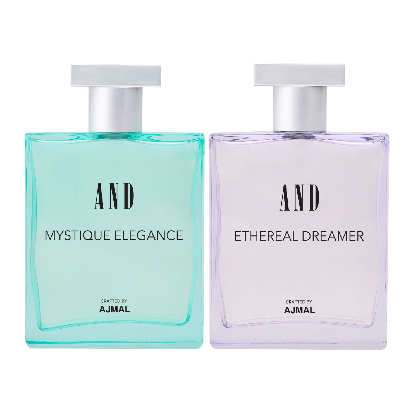 AND Crafted By Ajmal | AND Mystique Elegance & Ethereal Dreamer Pack of 2 EDP 100ML each for Women Crafted by Ajmal + 2 Parfum Testers