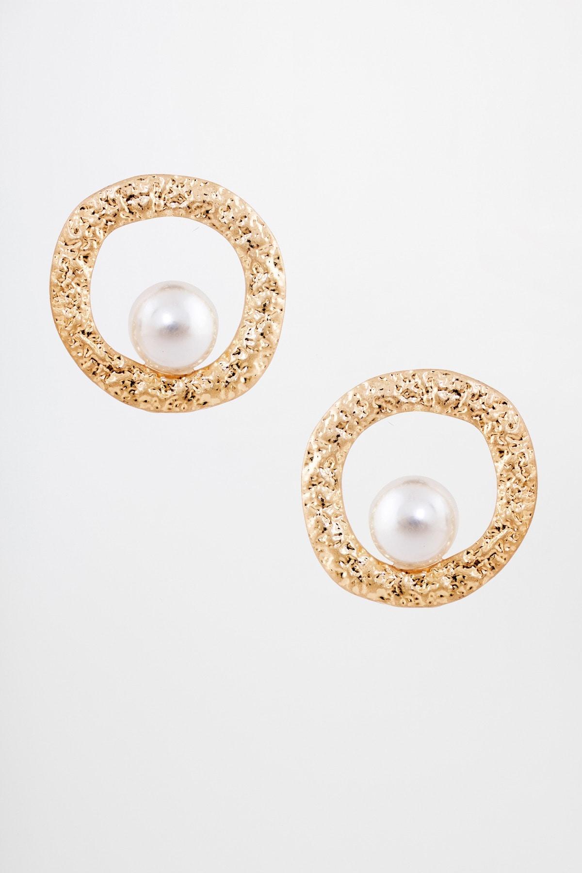 AND | Gold Stone Dangler Earrings