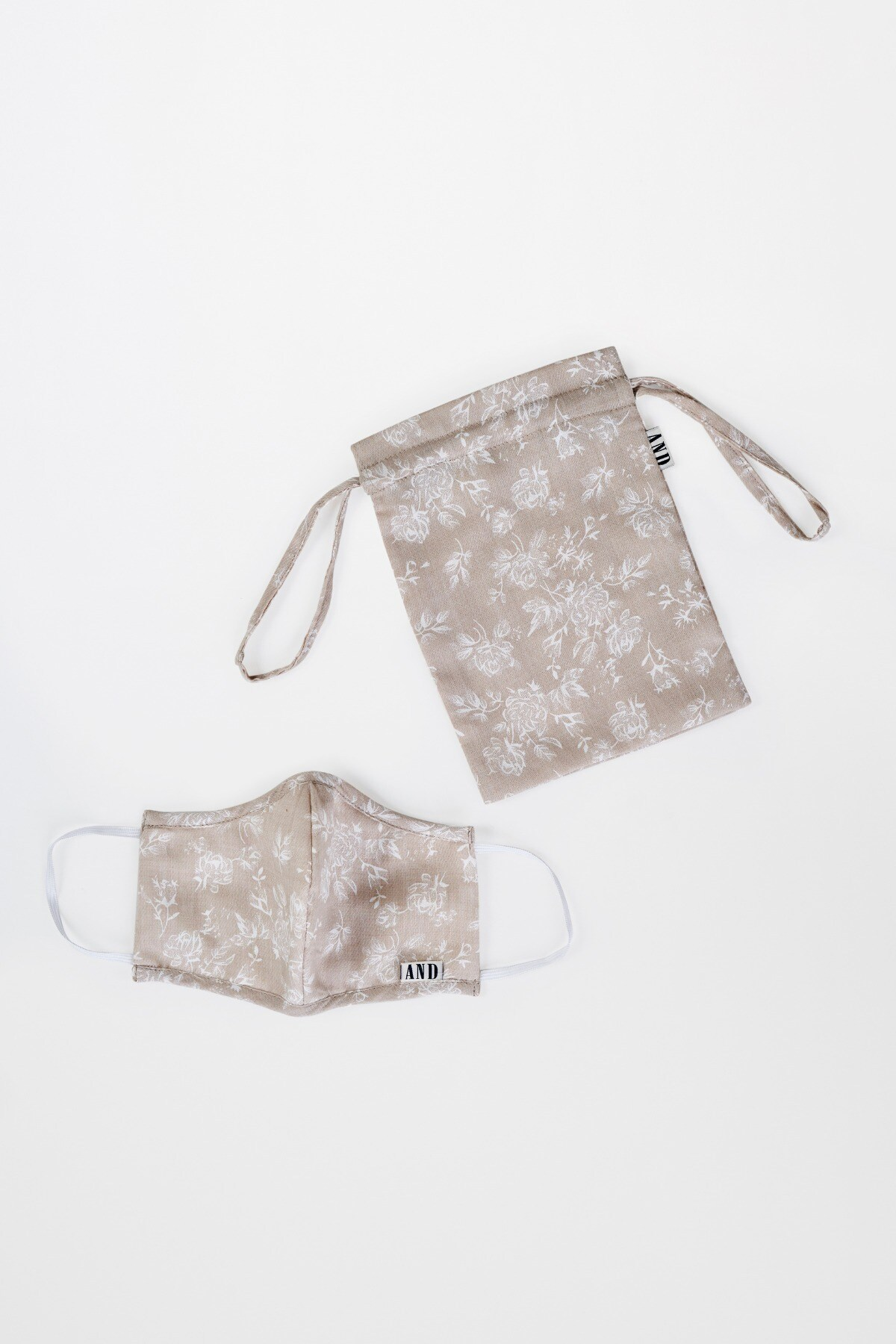 AND | Beige Mask With Pouch Combo