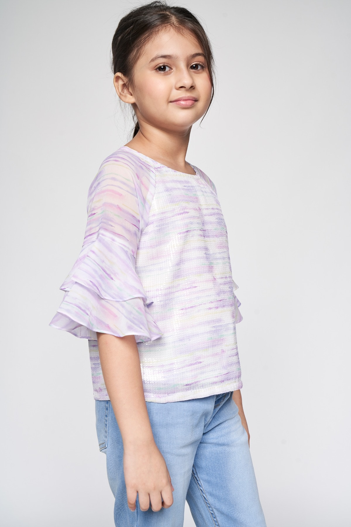 AND | Multi Color Abstract Straight Top