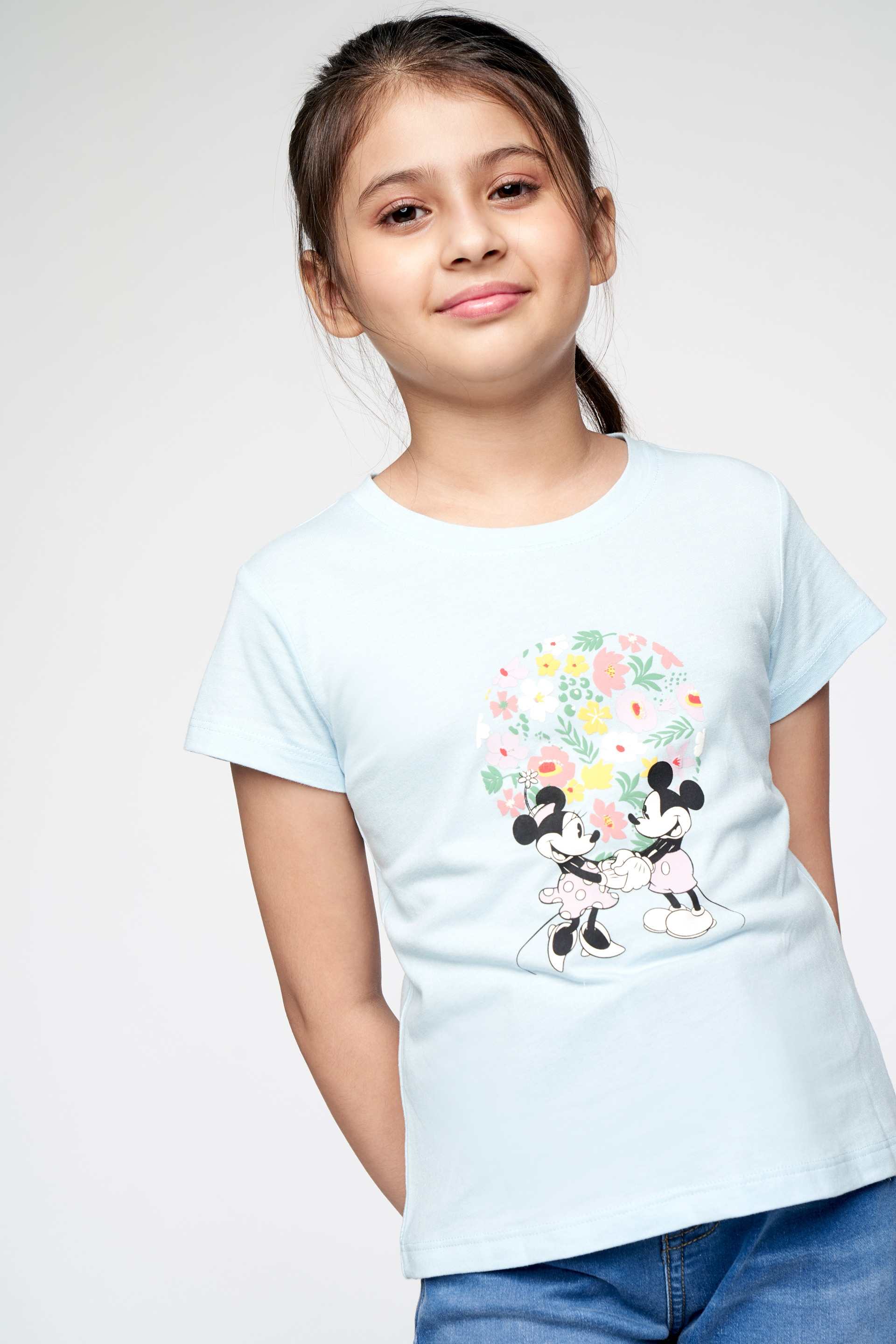 AND | Powder Blue Graphic Straight Top