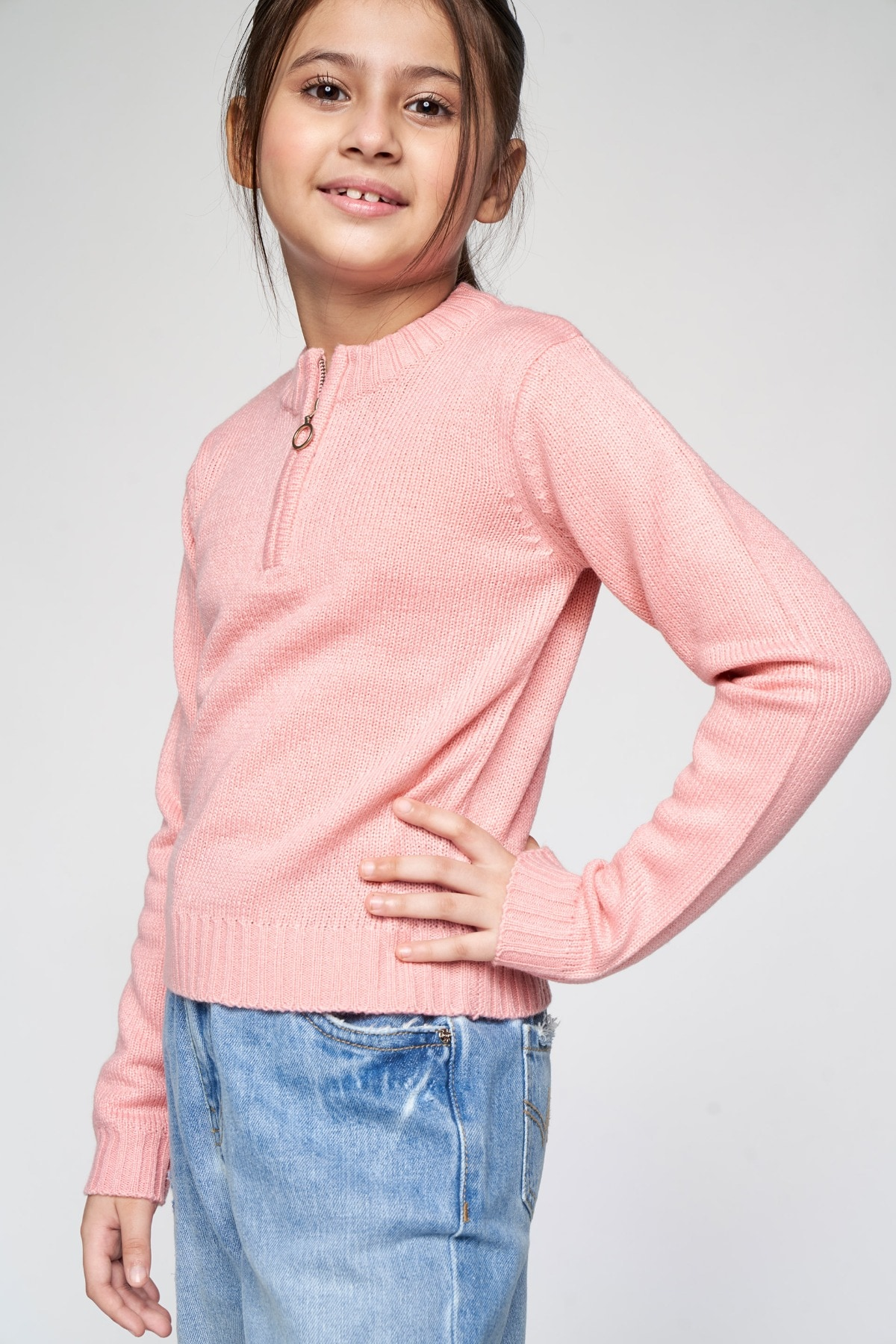 AND | Pink Solid Straight Top