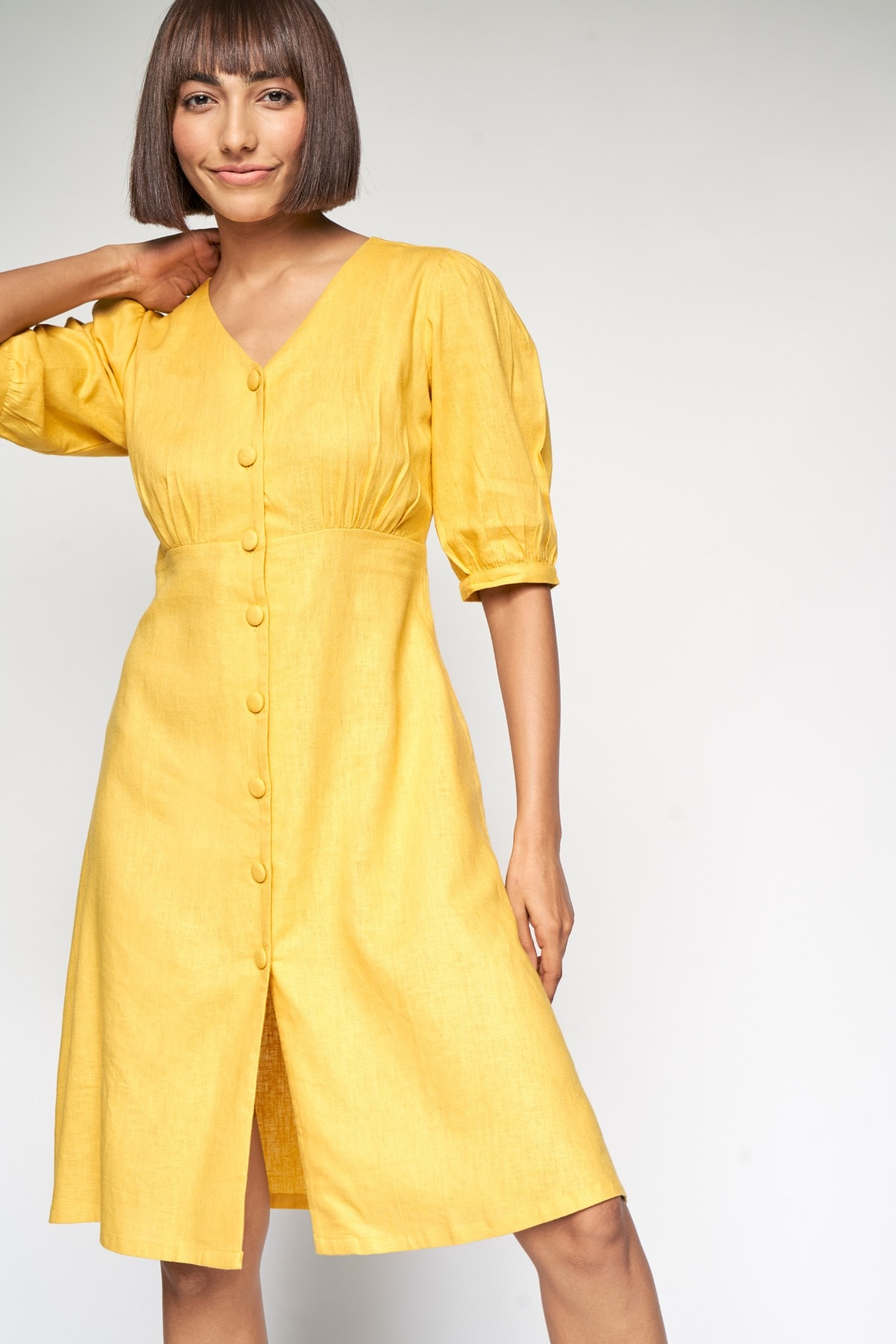 AND | YELLOW & DRESS