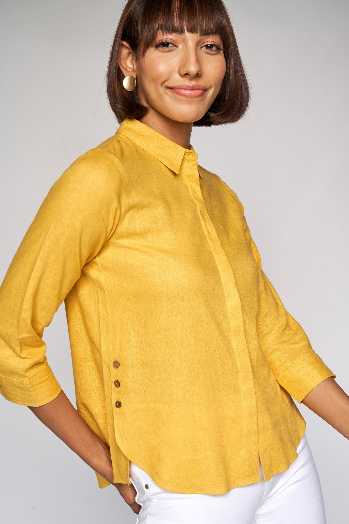 AND   Yellow Solid Straight Top