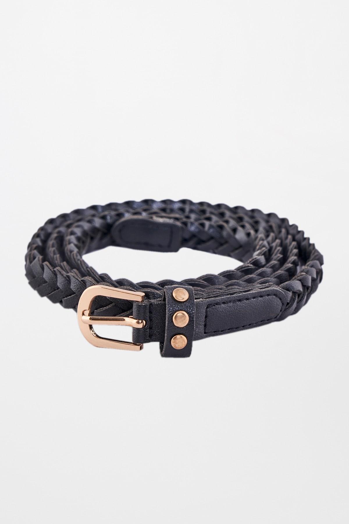 AND | Black Braided Belt
