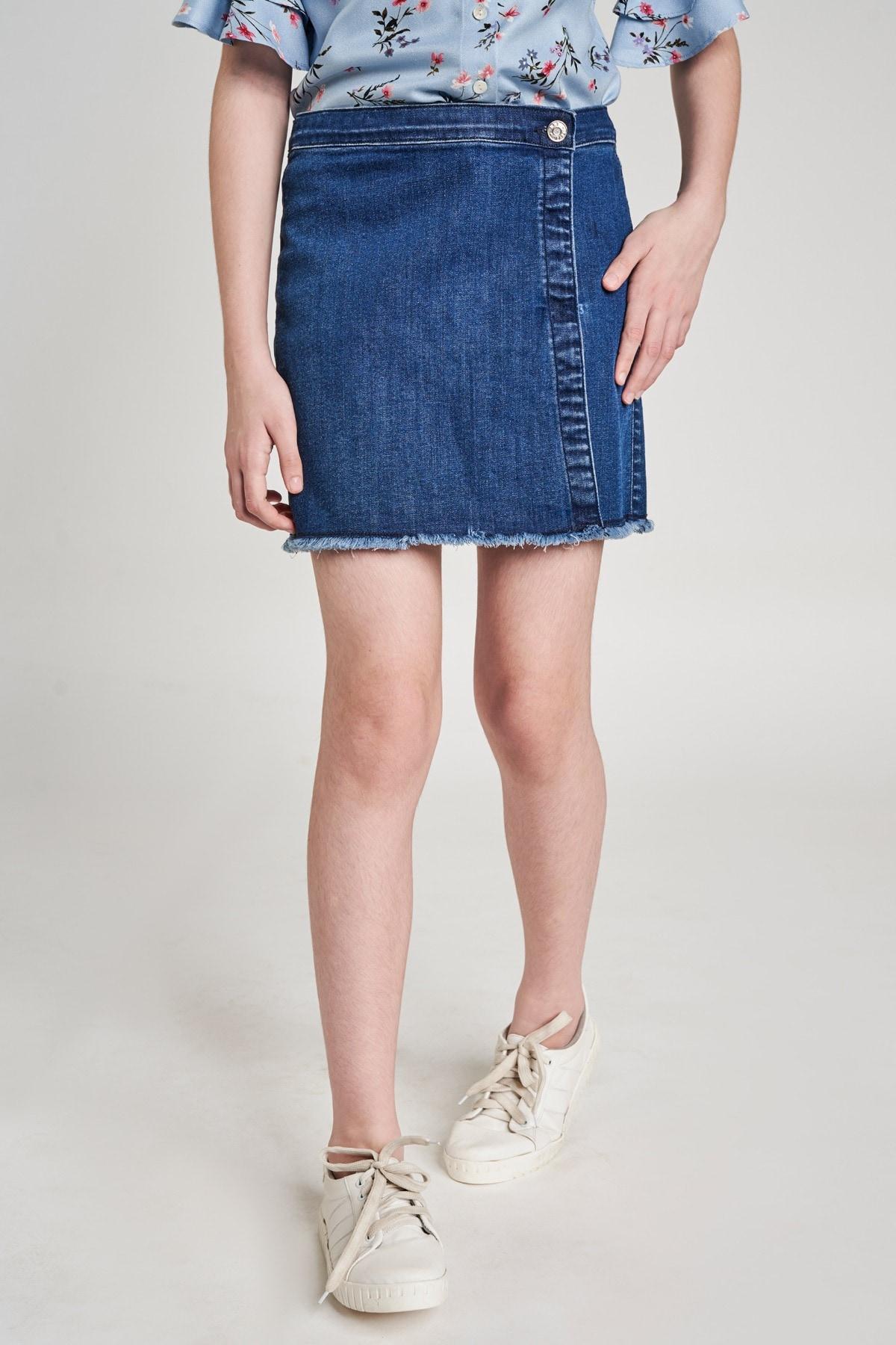 AND | Dark Blue Self Design Shorts