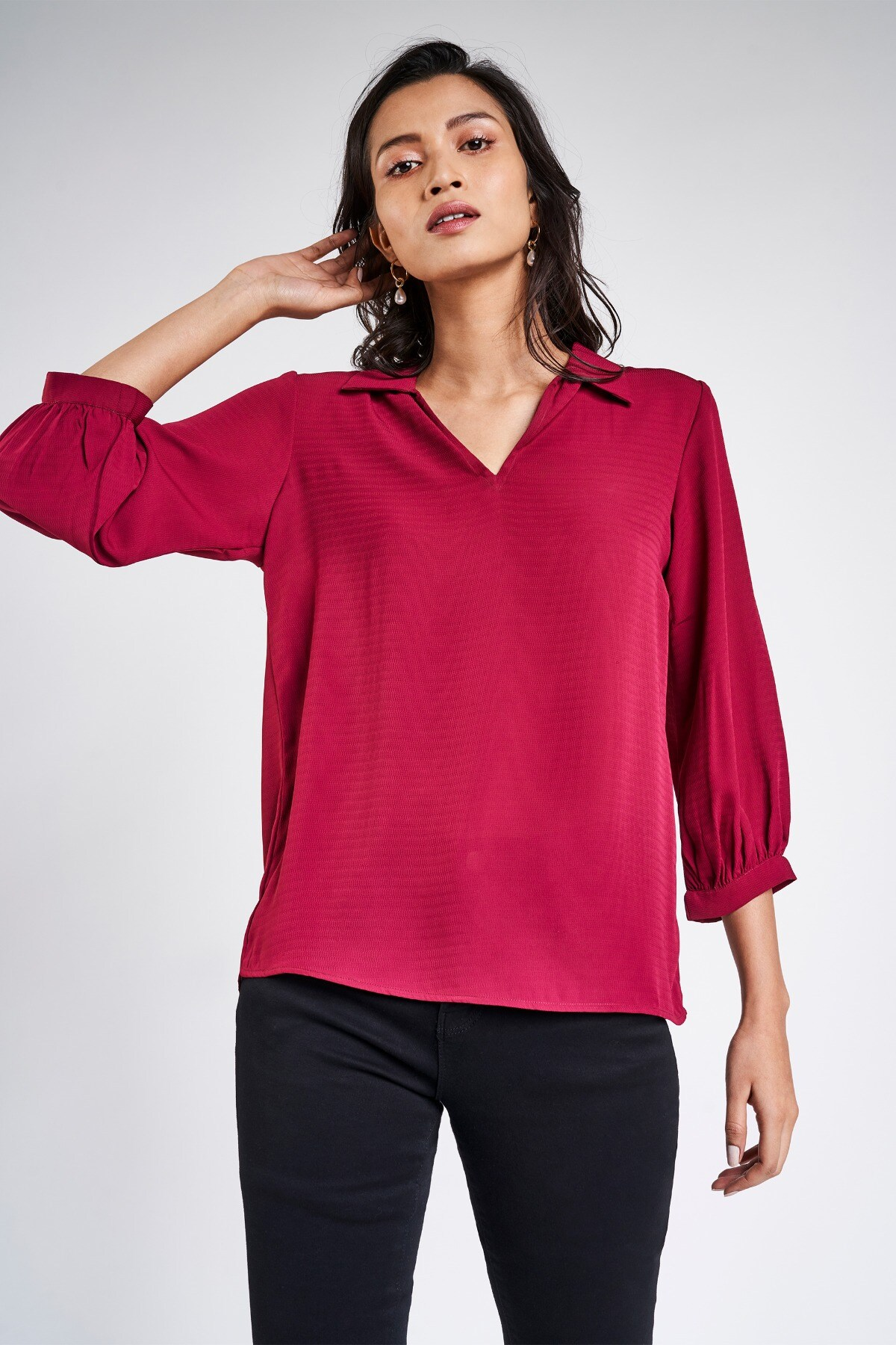 AND | Wine Solid A-Line Top