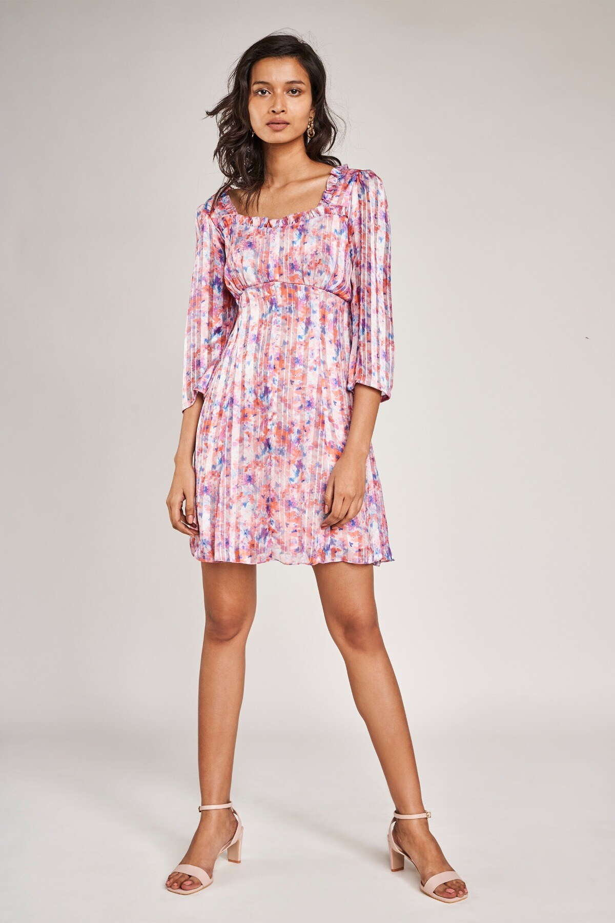 AND | Multi Color Floral Printed A-Line Dress