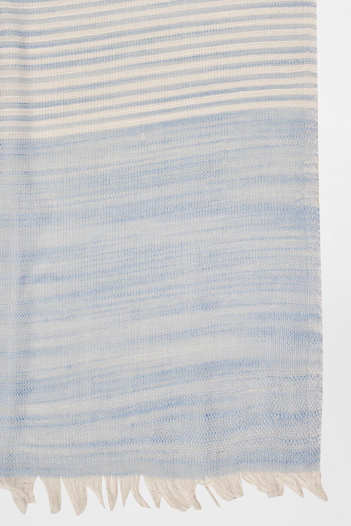 AND | Multi Color Self Design Cotton Casual Scarf
