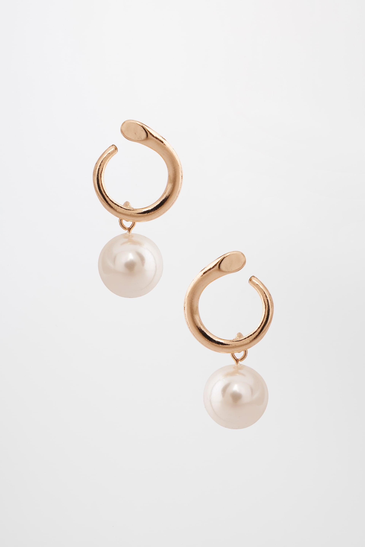 AND | White Earrings