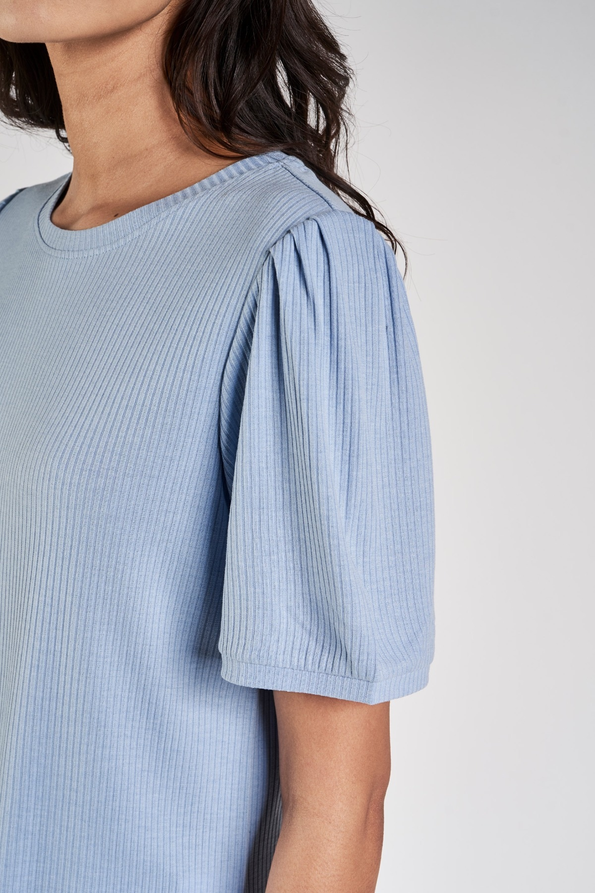 AND | Powder Blue Solid A-Line Top