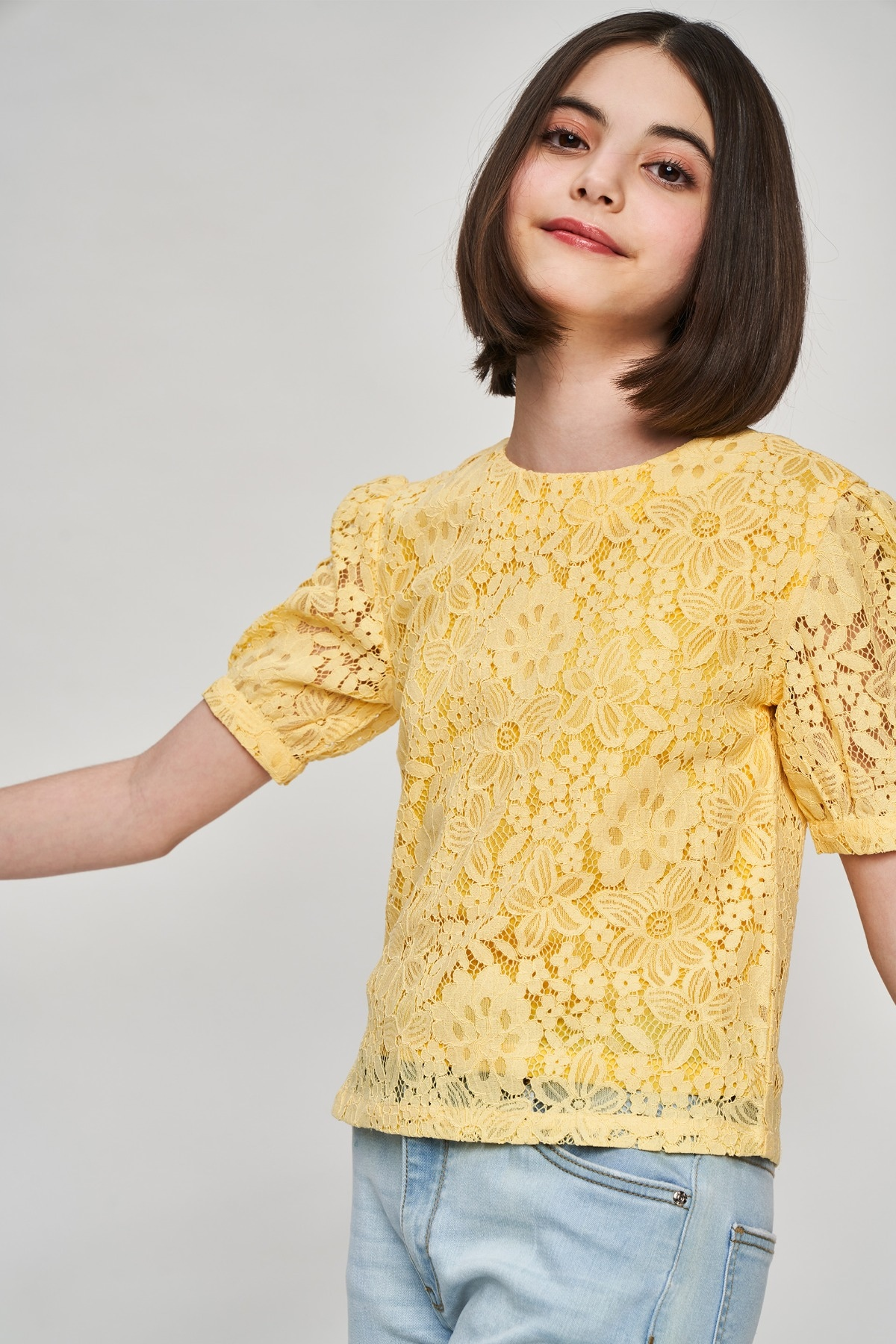 AND | Yellow Self Design A-Line Top