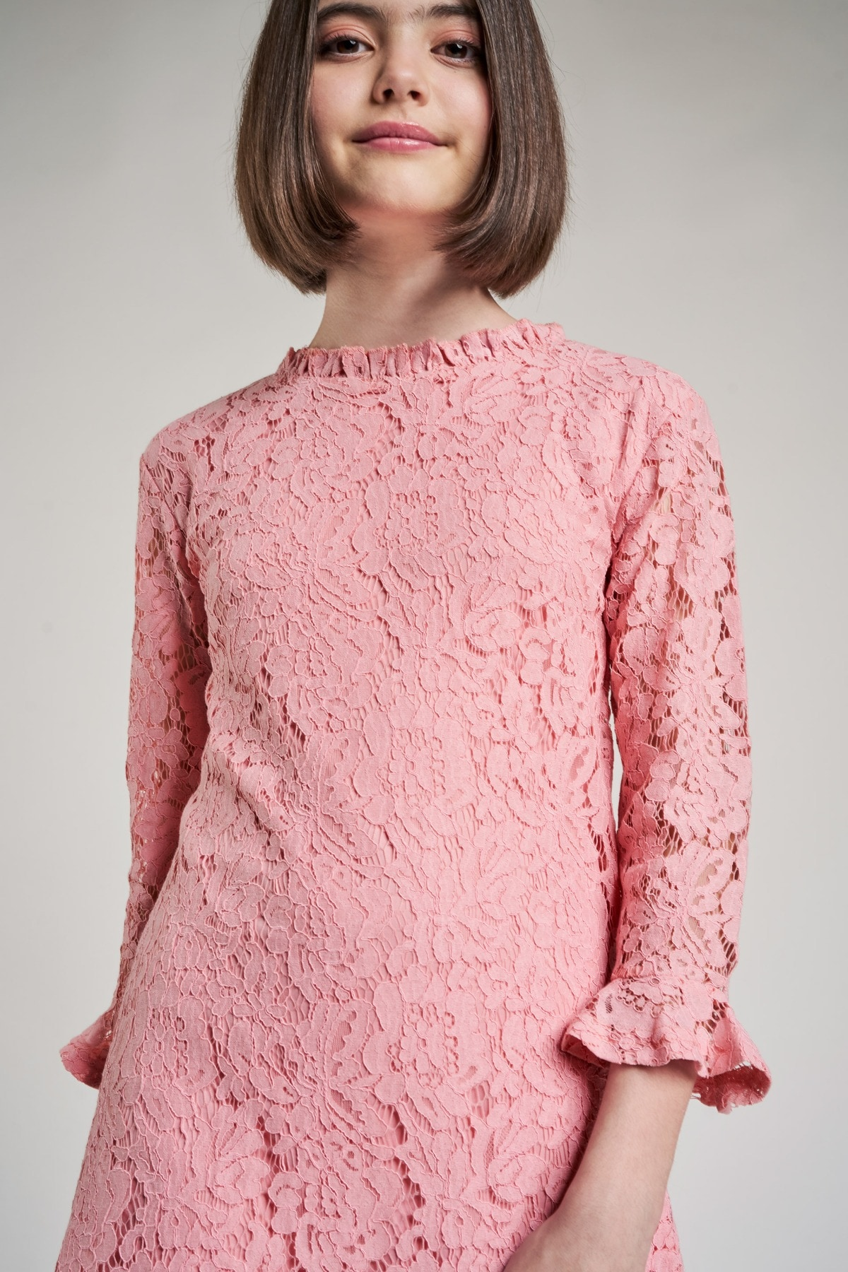 AND | Blush Solid A-Line Dress