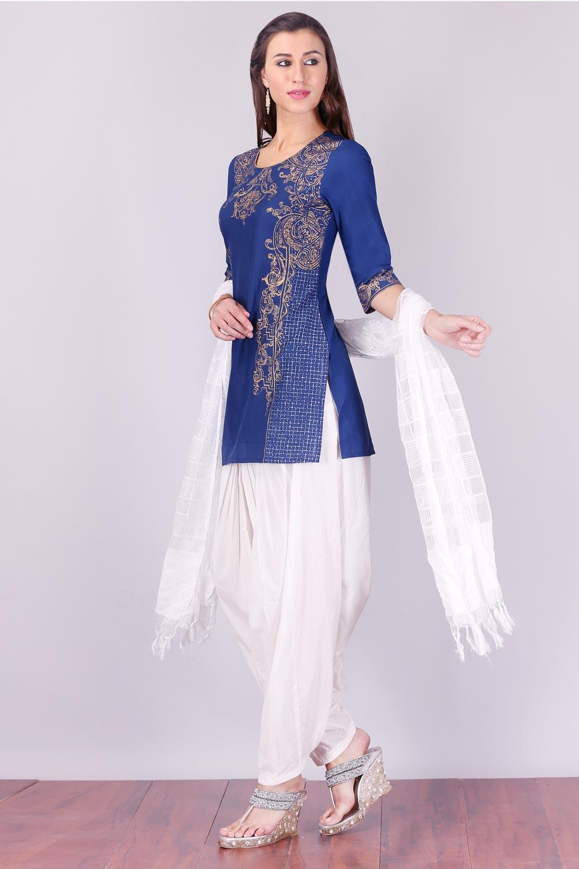 Aurelia   Aurelia Women Blue Color Kurti