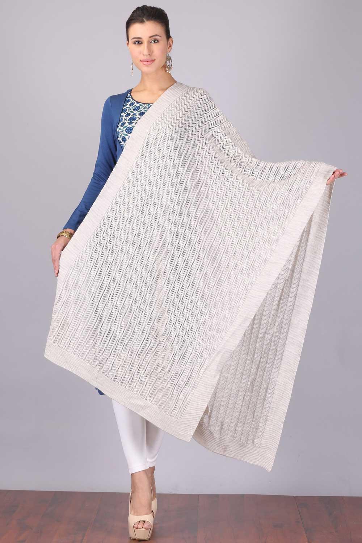 Aurelia | Aurelia Women White Color Shawl