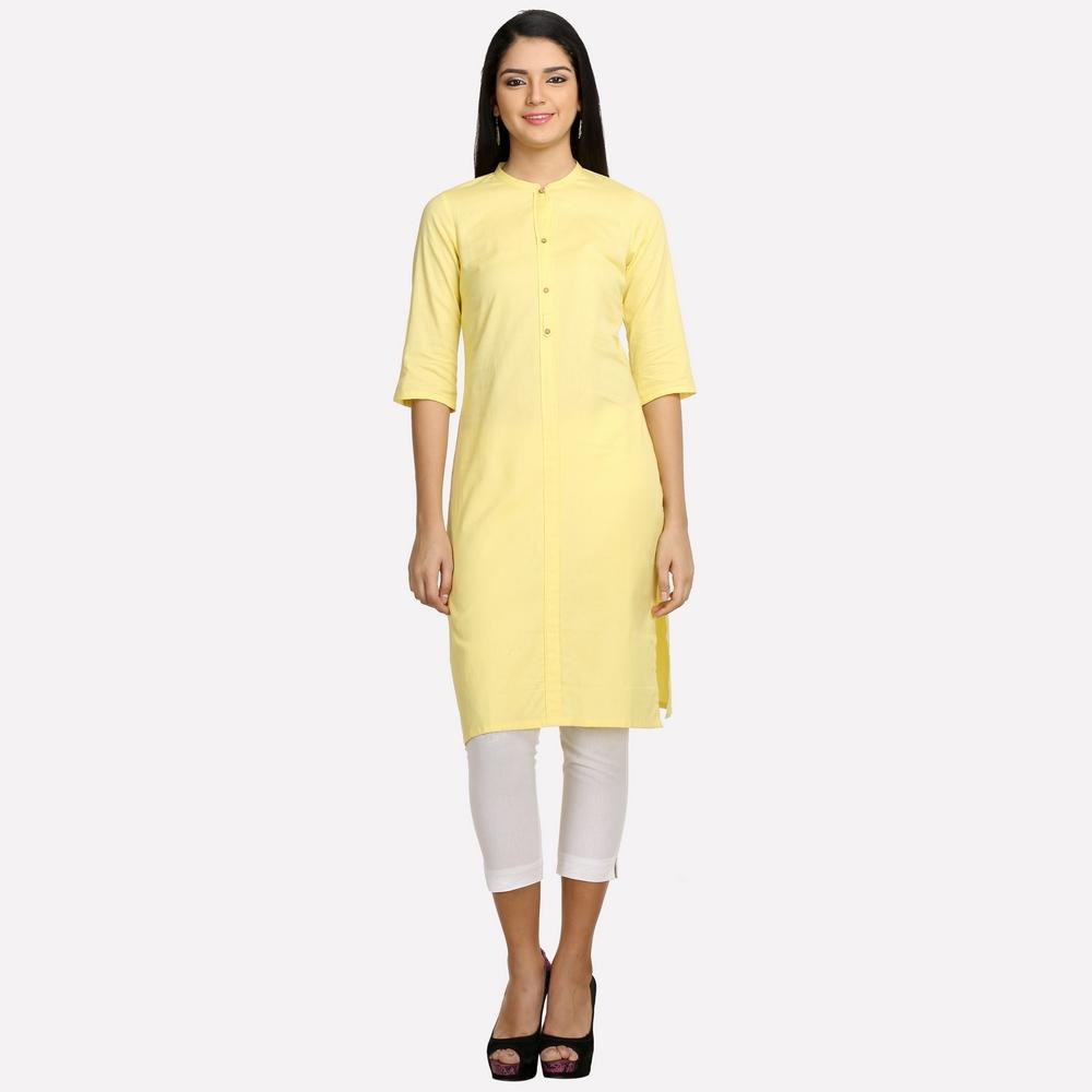 Aurelia | Aurelia Women Yellow Color Kurta