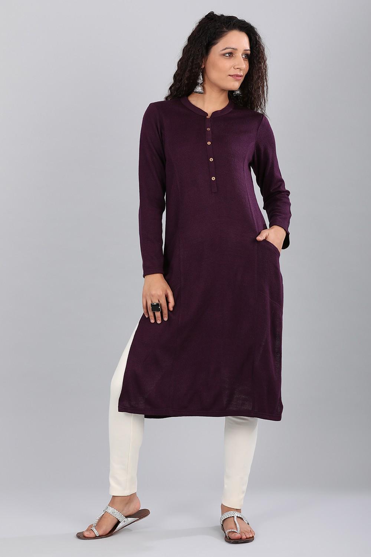Aurelia | Aurelia Women Purple Color Kurta