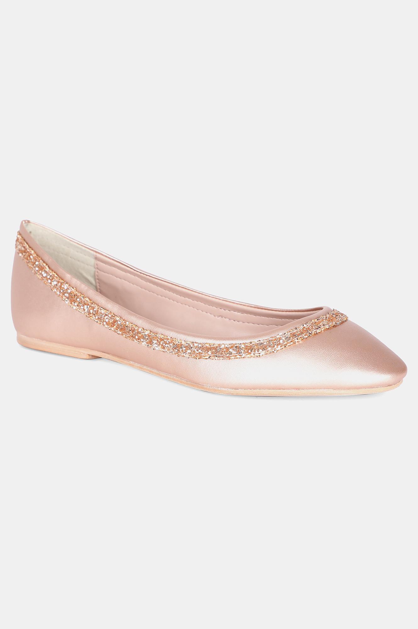 Aurelia | Aurelia Rose Gold Round Toe Textured Flat