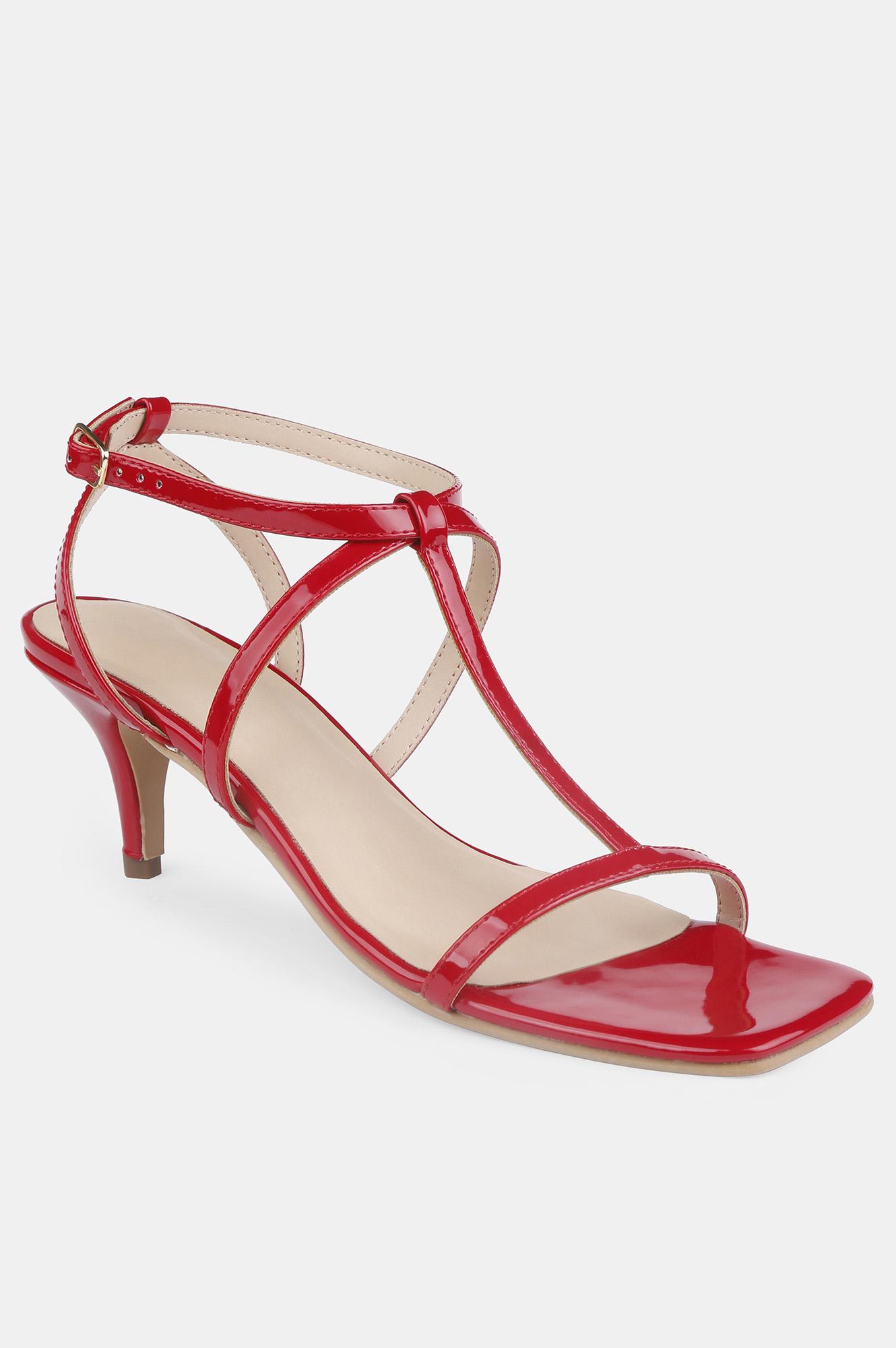 Aurelia   Aurelia Red Square Toe Solid Stiletto