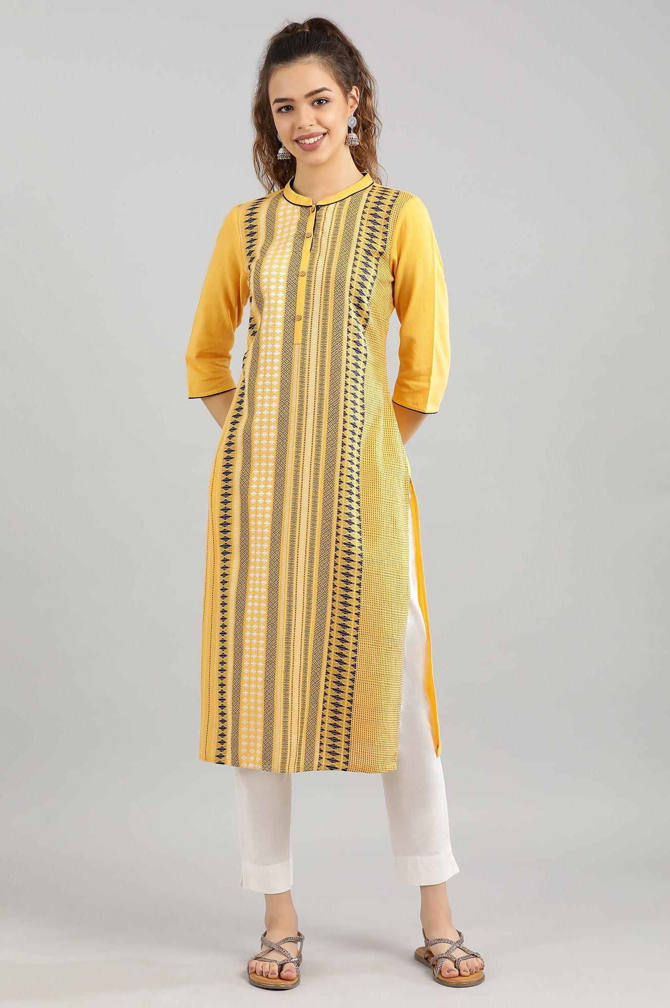 Aurelia | Yellow Straight Kurta