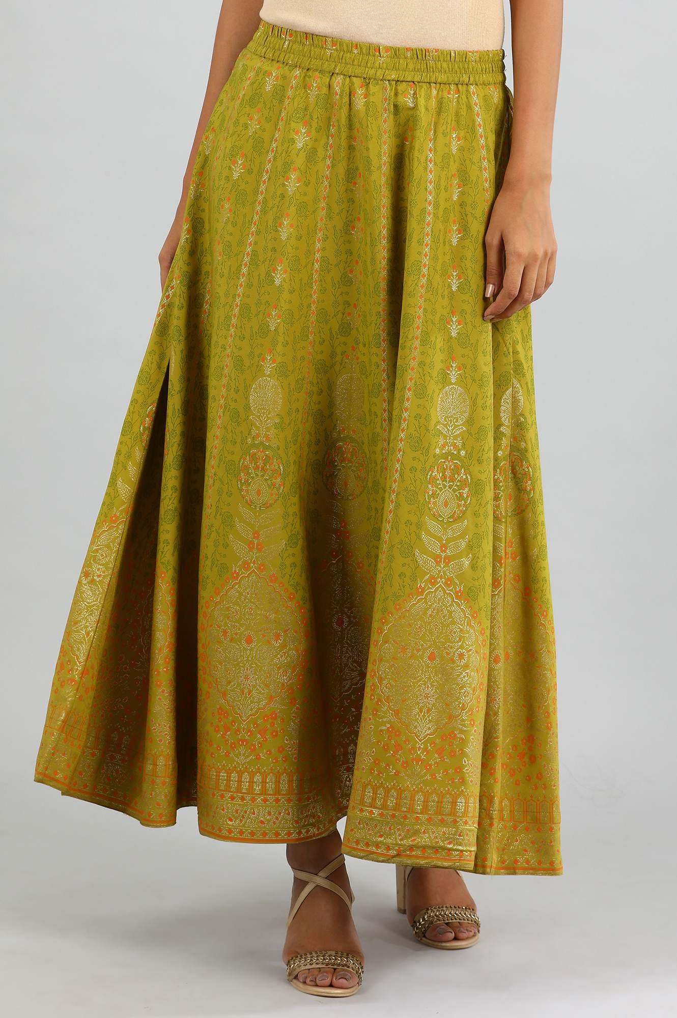 Aurelia | Yellow Printed Skirt