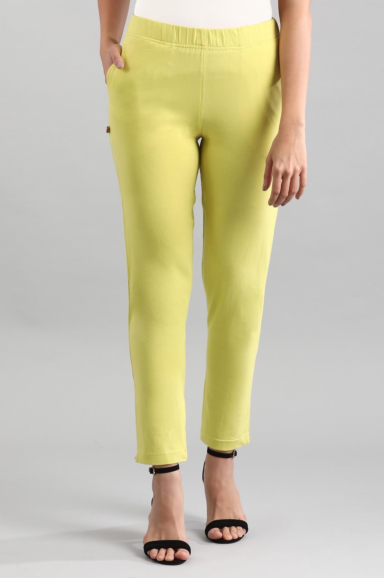 Aurelia | Green Solid Pants