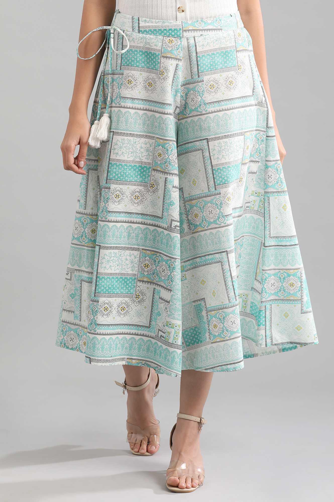 Aurelia   Blue Printed Culottes