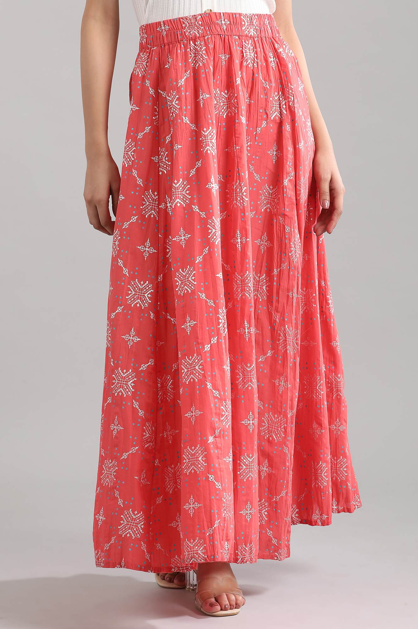 Aurelia | Coral Printed Skirt